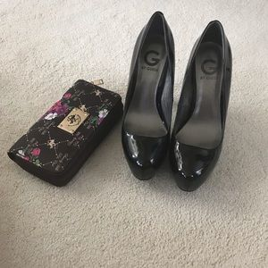 G by Guess Voxxi Black Patent Leather